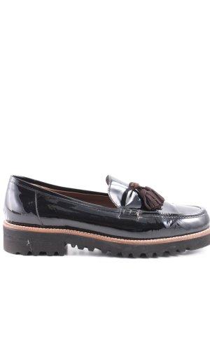 Cenedella Moccasins black wet-look
