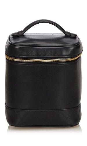 Chanel Make-up Kit black leather