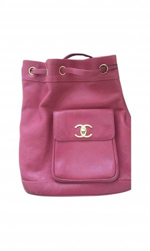 Chanel Sac à dos pour ordinateur portable rouge framboise-rose