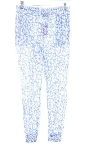 Chiemsee Stoffhose blau-weiß abstraktes Muster Casual-Look
