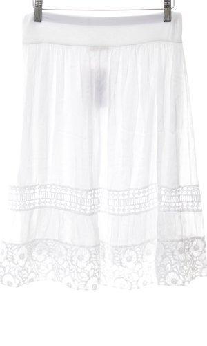 Chilli Jupe à plis blanc style décontracté