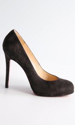 Christian Louboutin Plateauzool pumps zwart zakelijke stijl