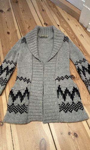 Closed Cárdigan de estilo noruego gris-negro lana de alpaca