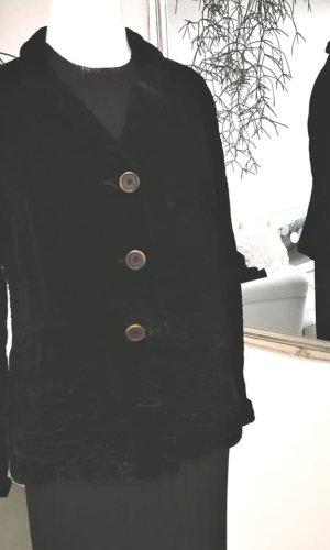Lange blazer zwart Zijde