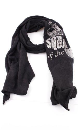 Codello Bufanda de punto negro-blanco estampado temático look casual