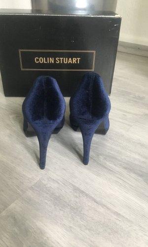 Colin Stuart Plateauzool pumps donkerblauw
