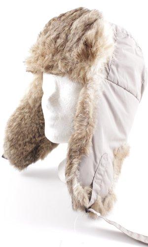 Columbia Chapeau en fourrure marron clair-gris vert molletonné