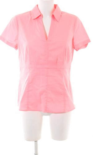 Comma Kurzarm-Bluse pink Casual-Look