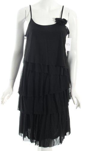 Comma Volantkleid schwarz Elegant