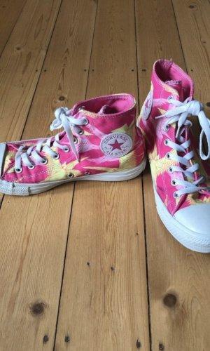 Converse Zapatos brogue amarillo-rosa