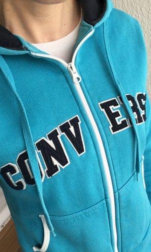Converse Veste sweat bleu fluo coton