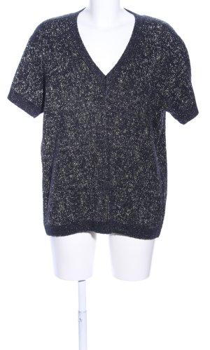 COS Sweater met korte mouwen blauw-goud gestippeld glitter-achtig