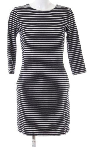 COS Sweaterjurk zwart-wit gestreept patroon casual uitstraling
