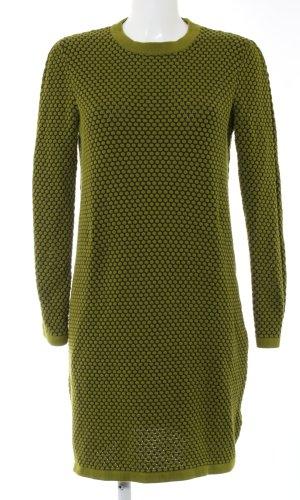 COS Sweaterjurk khaki gestippeld patroon casual uitstraling