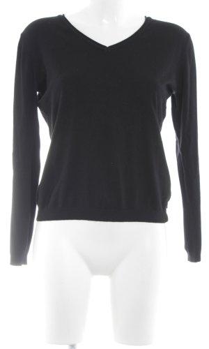 CPM the Collection! V-Ausschnitt-Pullover schwarz Casual-Look