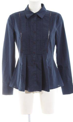 Cream Long Sleeve Shirt blue business style