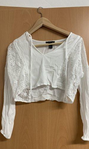 Forever 21 Gehaakt shirt wit