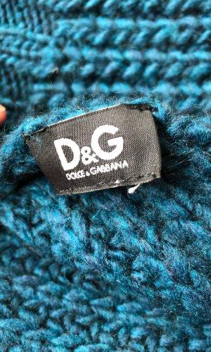 Dolce & Gabbana Bufanda de punto petróleo