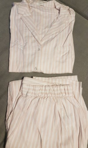 Oysho Pijama color rosa dorado-blanco puro