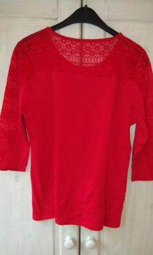 Gehaakt shirt rood
