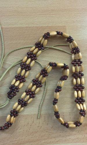 Cinturón de cadena multicolor madera