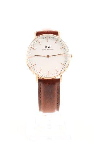 Daniel Wellington Reloj analógico marrón-color oro estilo «business»