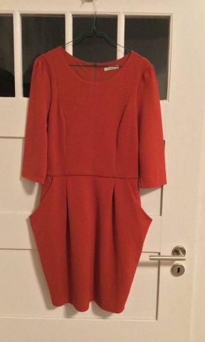 Darling Robe ballon rouge tissu mixte