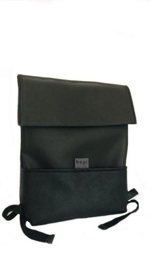 Sac à dos pour ordinateur portable noir faux cuir