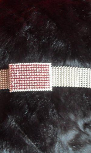 Cinturón de cadena color plata-rojo oscuro
