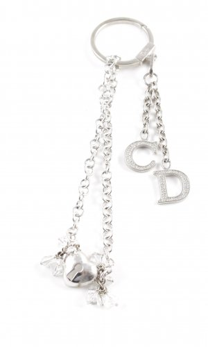 Dior Key Chain silver-colored business style