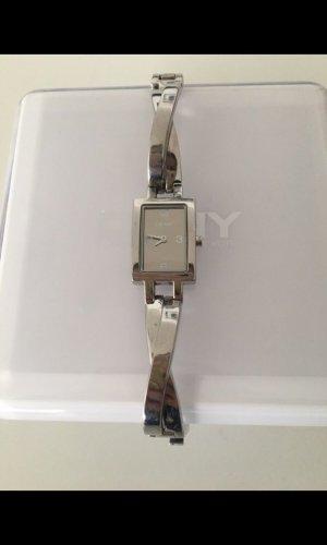 DKNY Uhr Armbanduhr Damen silber metall mit Box Uhr