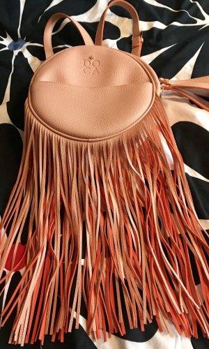 Fringed Bag multicolored imitation leather