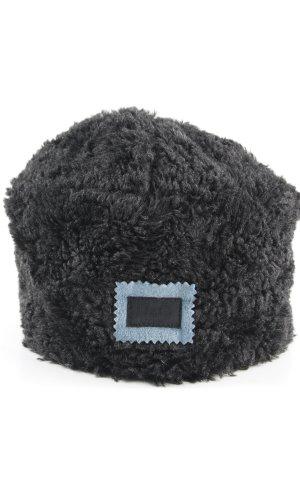 Dolce & Gabbana Chapeau en fourrure noir Application de logo