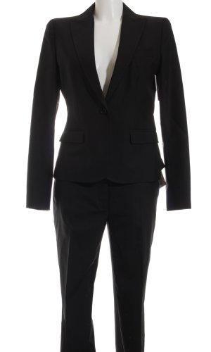 Dolce & Gabbana Traje de pantalón negro lana de esquila