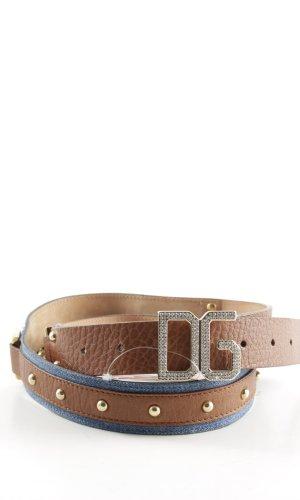 Dolce & Gabbana Ledergürtel blau-braun Casual-Look