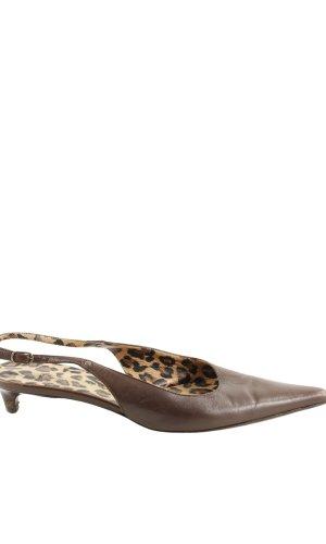 Dolce & Gabbana Escarpin à bride arrière brun élégant