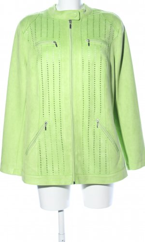 Dress In Faux Leather Jacket green casual look