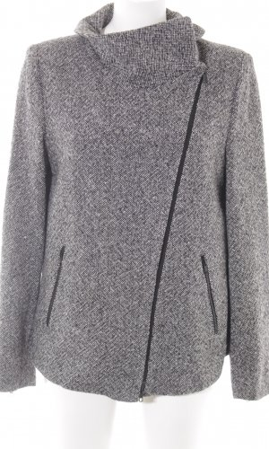 Drykorn Wolljacke schwarz-weiß meliert Street-Fashion-Look