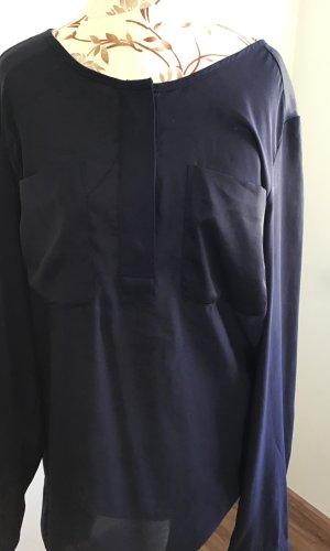 Dunkelblaue H&M Bluse Gr. 42