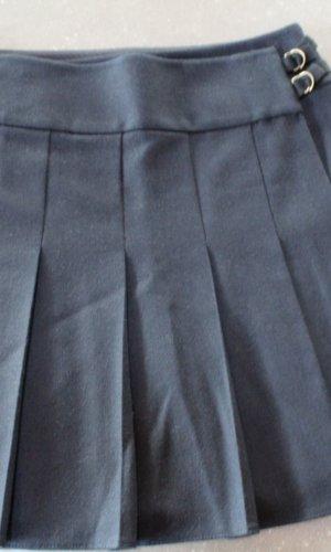 Strenesse Jupe à plis bleu foncé laine