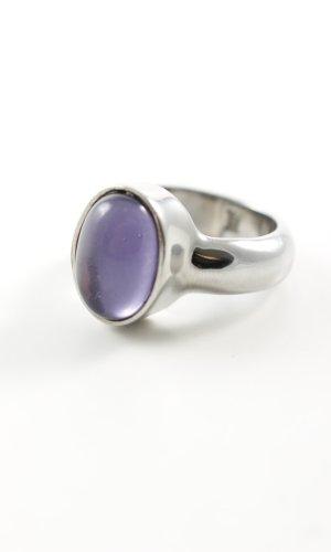 Dyrberg/Kern Anillo de plata color plata-lila look casual