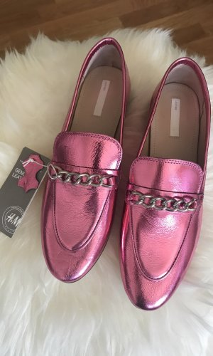 H&M Moccasins multicolored leather