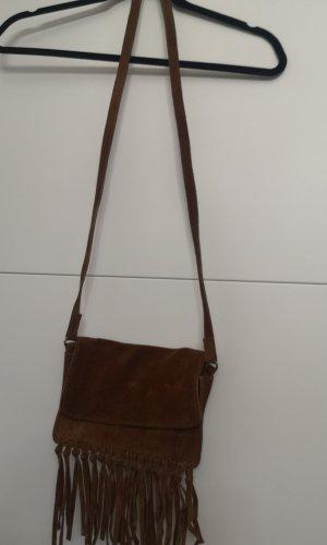 H&M Fringed Bag brown