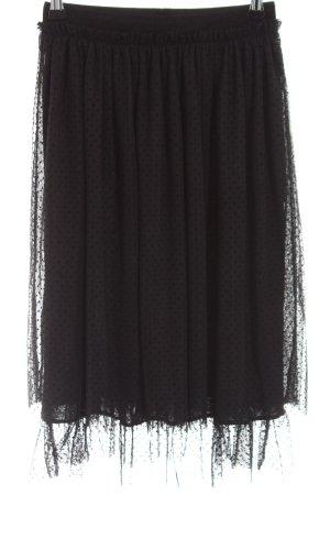 edc Jupe à plis noir motif de tache style décontracté