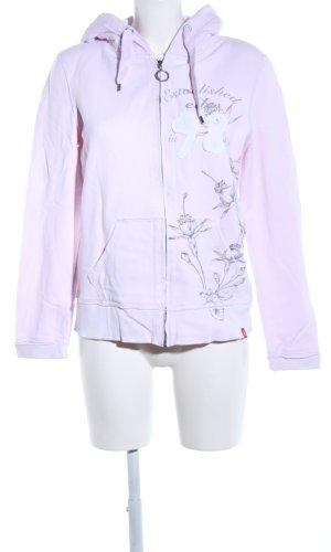edc Veste sweat rose-gris clair motif de fleur style décontracté