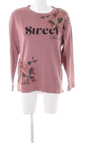 edc Suéter rosa-negro estampado floral look casual