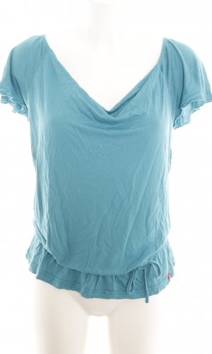 edc Waterval shirt turkoois casual uitstraling