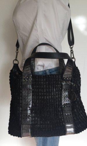 Suri Frey Comprador negro-color plata Imitación de cuero