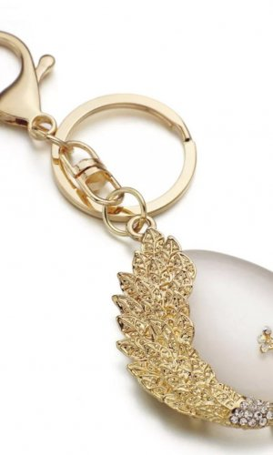 Key Chain gold-colored-oatmeal metal