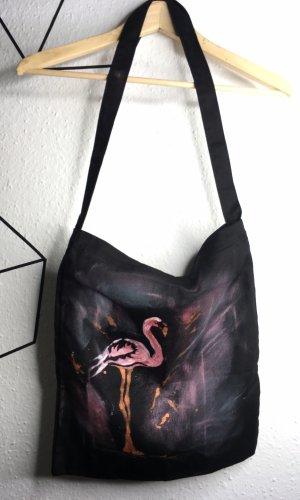 Bolsa de la compra negro-rosa